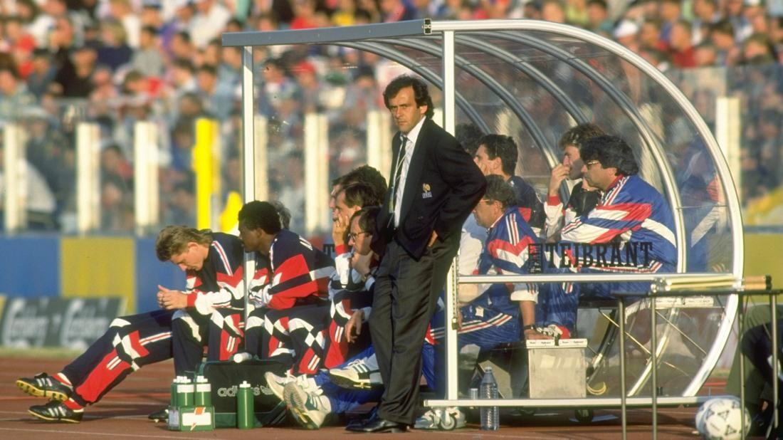 France Coach Michel Platini
